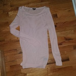 Express pink tunic sweater